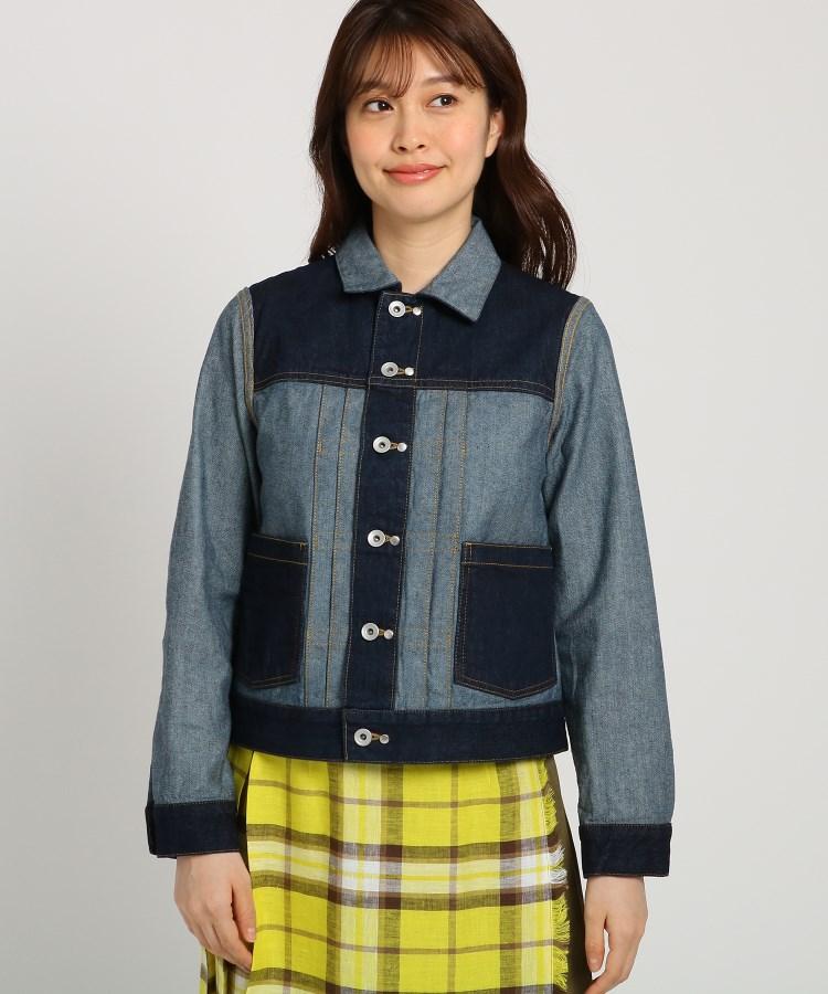 Dessin(Ladies)(デッサン(レディース))【S~Lサイズあり・洗える】リバーシブルデニムジャケット