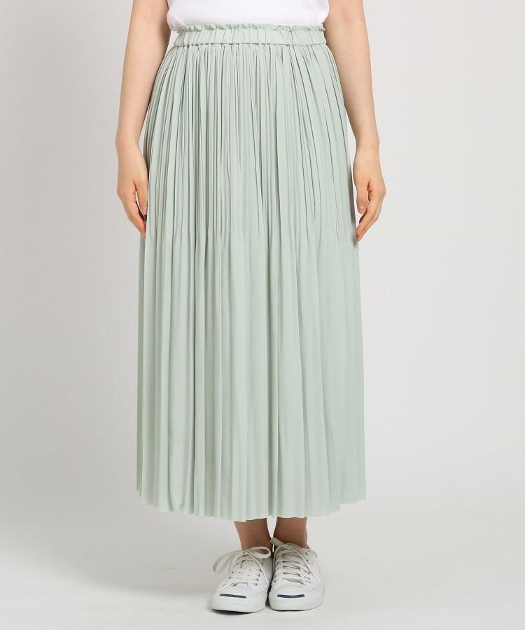 Dessin(Ladies)(デッサン(レディース))【Sサイズあり・洗える】ウエストゴムジョーゼットプリーツスカート