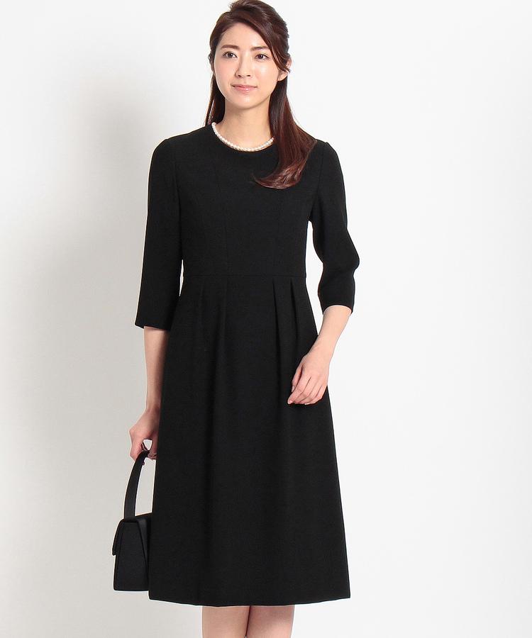 INDIVI COLOR DRESS(インディヴィ カラードレス)INDIVI フィット&フレアタックワンピース