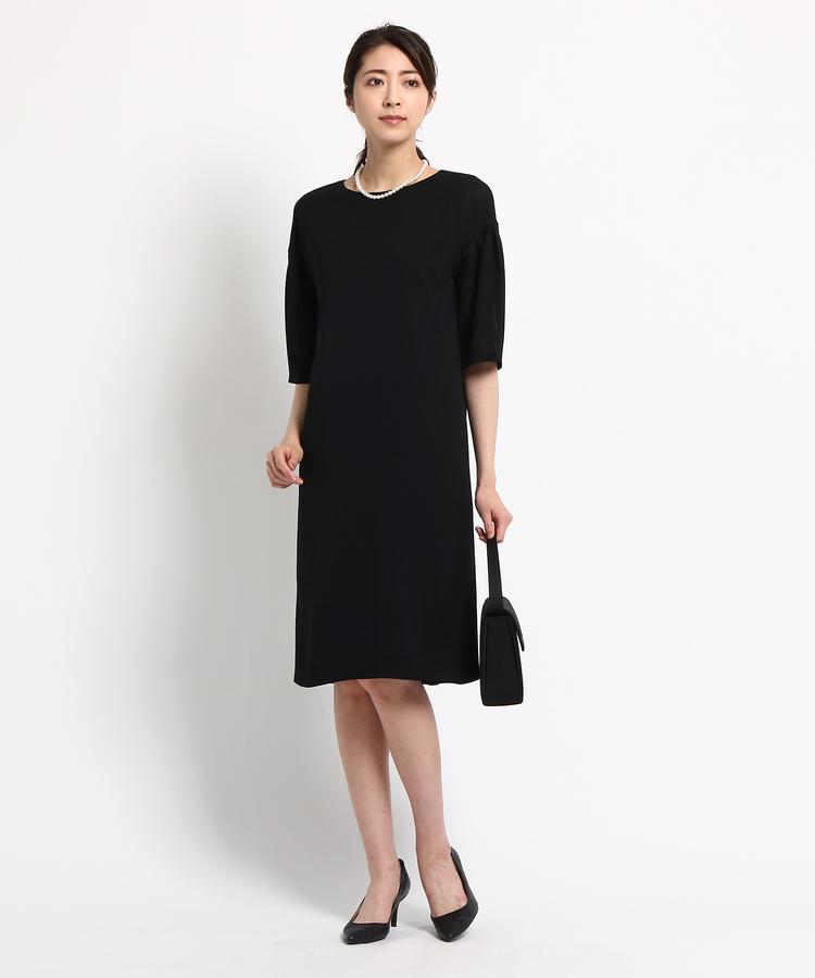 INDIVI COLOR DRESS(インディヴィ カラードレス)Reflect ボリュームスリーブワンピース