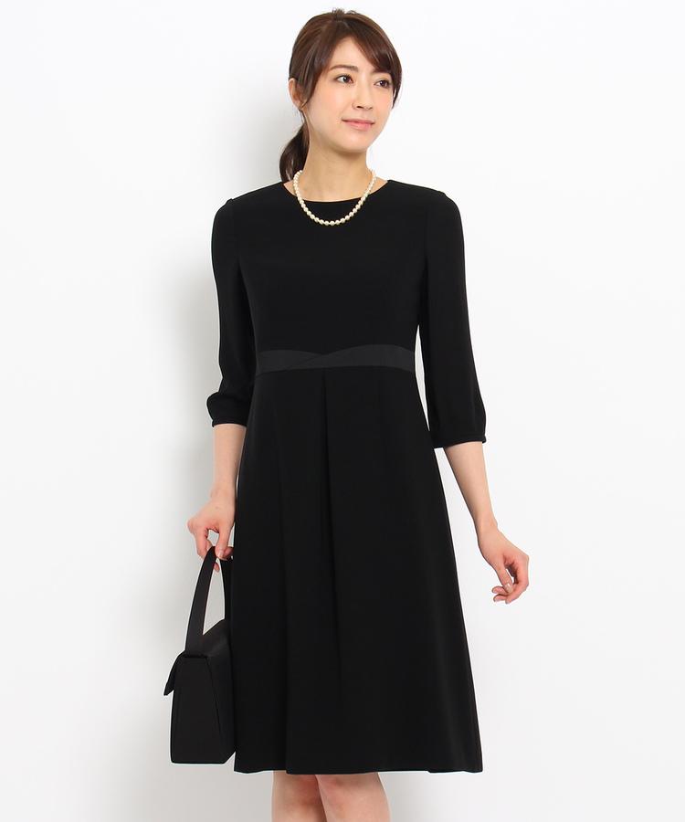 INDIVI COLOR DRESS(インディヴィ カラードレス)INDIVI フィット&フレアワンピース