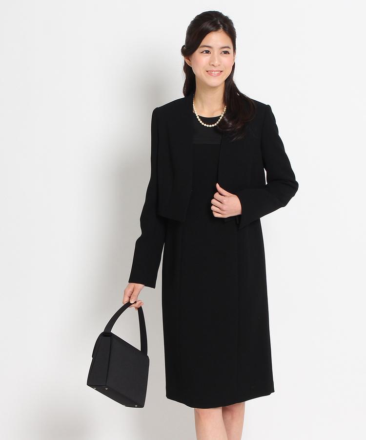 INDIVI COLOR DRESS(インディヴィ カラードレス)INDIVI カラーレスジャケット+Iラインワンピースアンサンブル