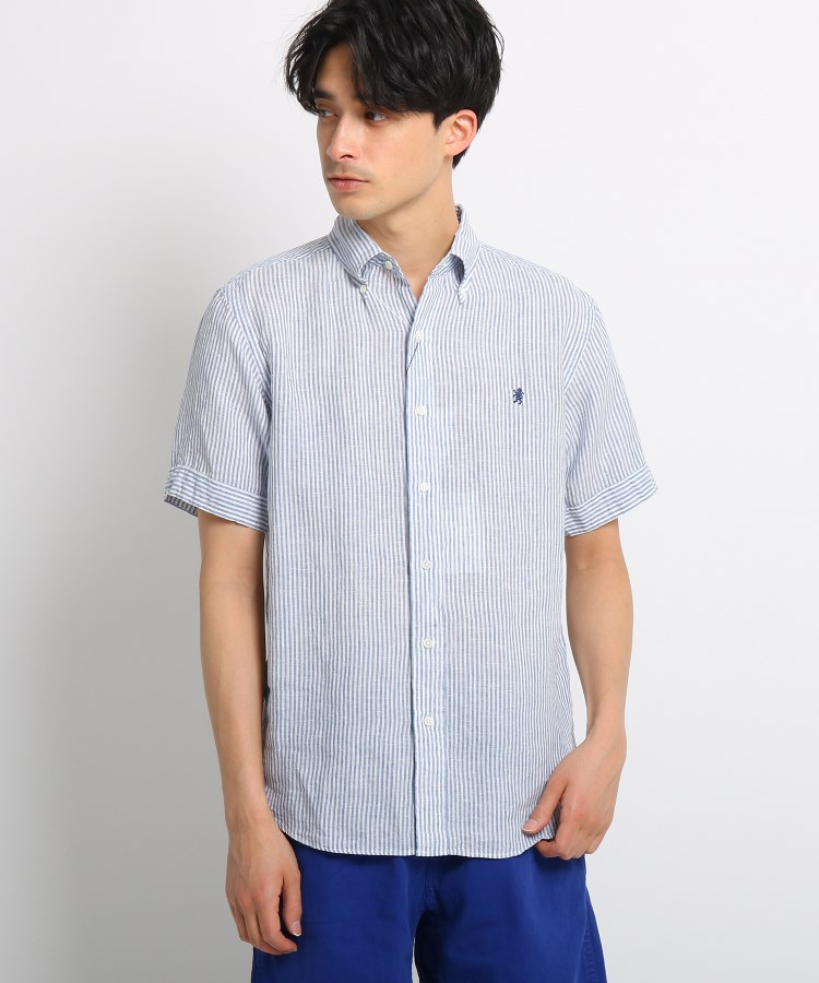 Dessin(Men)(デッサン(メンズ))Gymphlex 半袖リネンシャツ