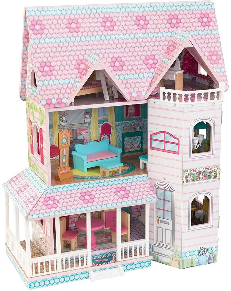 最短当日発送 送料無料 5%OFF KidKraft 定番から日本未入荷 キッドクラフト アビー Manor 13cm程の人形に最適 ドールハウス 3階建て Abbey