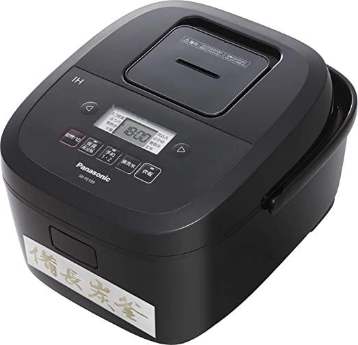 送料無料 最短当日発送 パナソニック 炊飯器 公式ストア 5.5合 備長炭釜 IH式 高い素材 ブラック SR-FE109-K