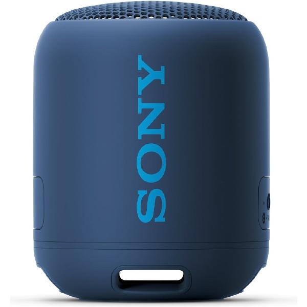 SONY ブルートゥーススピーカー SRS-XB12 ブルー Bluetooth対応 防水