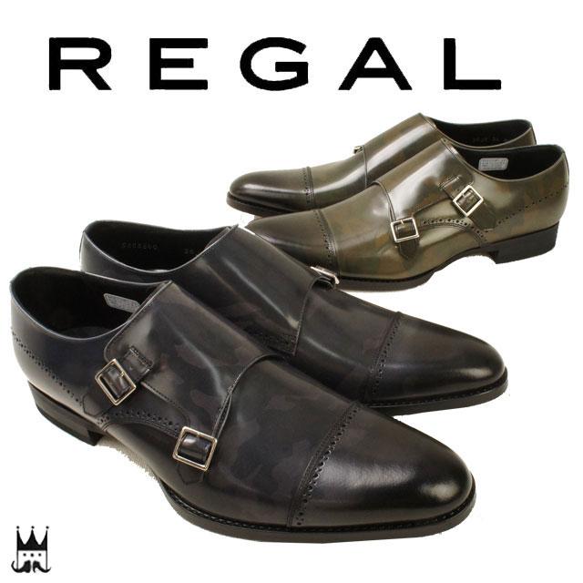 【送料無料】 リーガル 靴 メンズ REGAL ビジネスシューズ 20JR 革靴 紳士靴 カモフラ柄 カモフラージュ 日本製 メイドインジャパン ダブルモンク ドレスシューズ 迷彩柄 リーガル 靴 メンズ REGAL リーガル 靴 メンズ REGAL evid