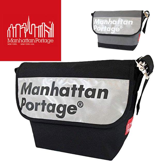 【送料無料】(一部地域除く)Manhattan Portage マンハッタンポーテージ メンズ レディース バッグ MP1606VJRREFL ロゴオン リフレクター ビンテージ メッセンジャーバッグ 反射 ナイロン ショルダー 斜め掛け A4 evid ab-c