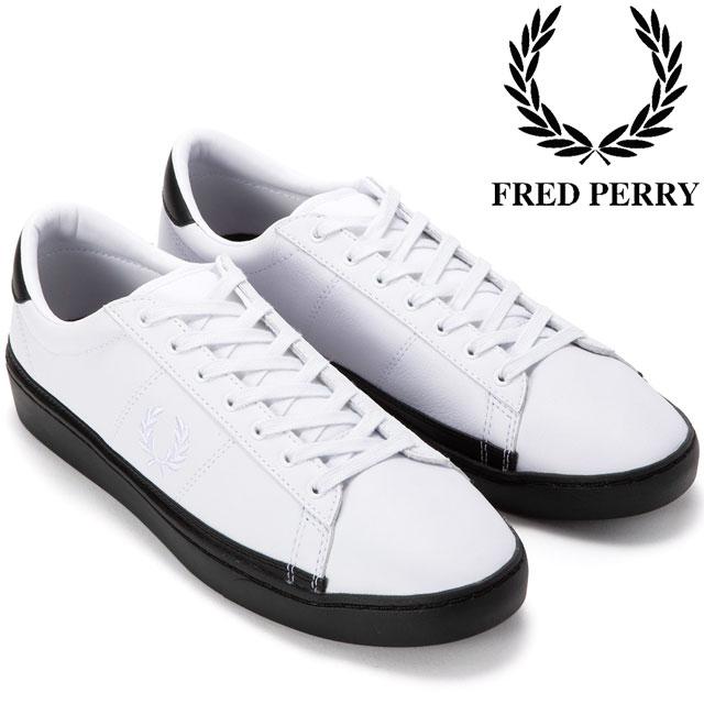 【送料無料】(一部地域除く)フレッドペリー FRED PERRY スペンサー メンズ スニーカー B4166 ホワイト ローカット evid