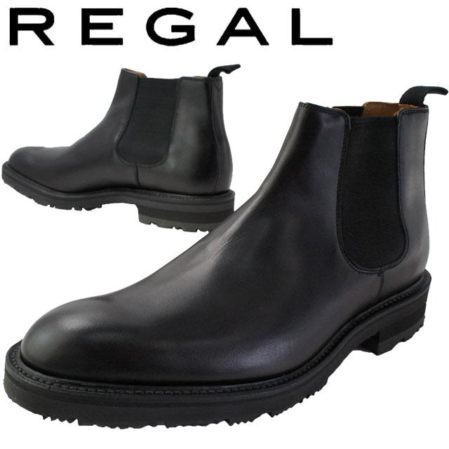 【送料無料】(一部地域除く) リーガル REGAL 29RR メンズ サイドゴアブーツ 冬底 雪道対応ソール ショートブーツ ビジネスシューズ 日本製 ブラック evid