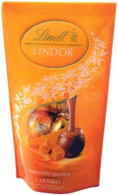 スイス人 ロドルフ・リンツによって生まれた世界中で愛されるチョコレート リンツ リンドール5P キャラメルパック(★クール便)