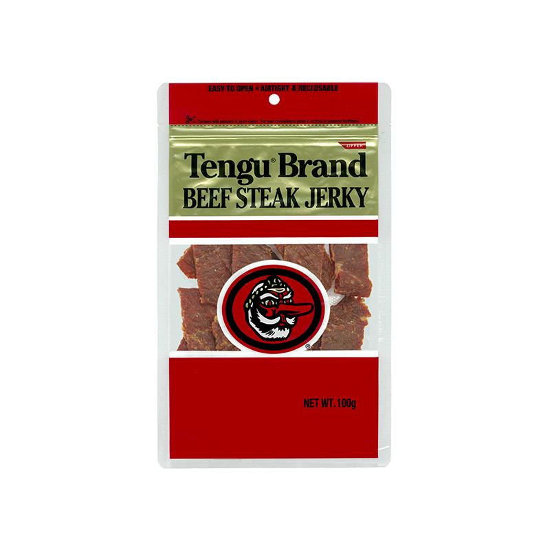 ビールのおつまみに最適 テング ビーフステーキジャーキー 国産 予約販売品 新品未使用 100g レギュラー