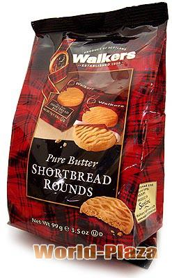メーカー直売 無駄のない伝統的な味わい ウォーカー 永遠の定番モデル ショートブレッドラウンド#1801 1枚入り個包装×9入り