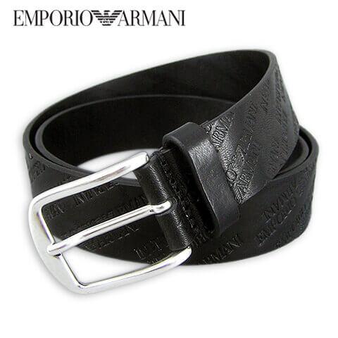 エンポリオアルマーニ/EMPORIO ARMANI メンズ ベルト Y4S235 YDY0G (ブラック/80001) 型押し/プレゼント/誕生日/パーティー/バレンタイン/父の日/クリスマス/成人式/SL