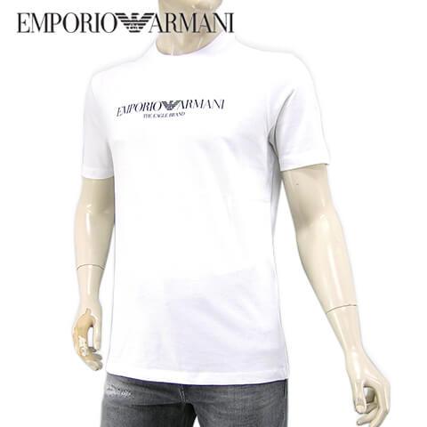 【2020春夏新作】 エンポリオアルマーニ/EMPORIO ARMANI メンズ Tシャツ 8N1T61 1J00Z (BIANCO OTTICO/ホワイト/0100) 半袖/クルーネック/大きいサイズ-t