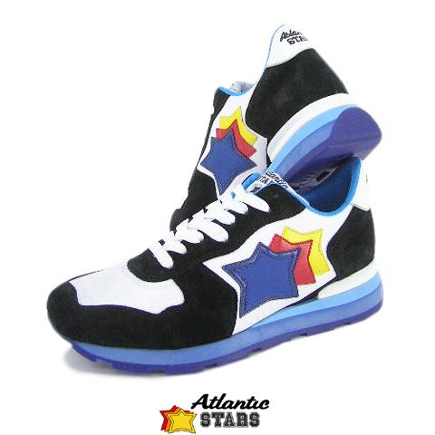 アトランティックスターズ/Atlantic STARS メンズ スニーカー ANTARES NBC 58B (ホワイト×ブラック) シューズ/靴/大きいサイズ-s/セール品