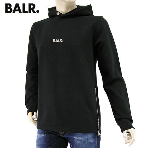 【2020春夏新作】 ボーラー/BALR. メンズ パーカー Q-series Straight Classic Hoodie B10011 BLACK Qシリーズ クラシック フーディー/プルオーバー/長袖/10120/大きいサイズ-t
