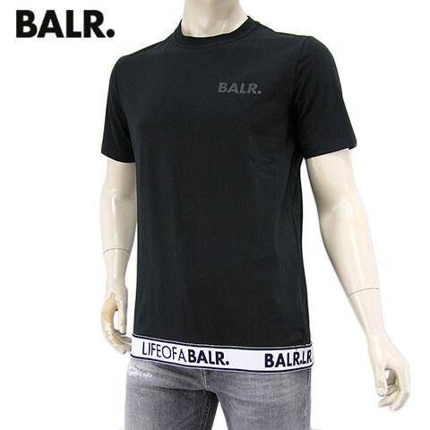 【2020春夏新作】 ボーラー/BALR. メンズ Tシャツ LOAB LOUNGE STRAIGHT T-SHIRT B10063 (ブラック/BLACK) ローブ ラウンジ ストレート Tシャツ/ストレッチ/半袖/クルーネック/大きいサイズ-t
