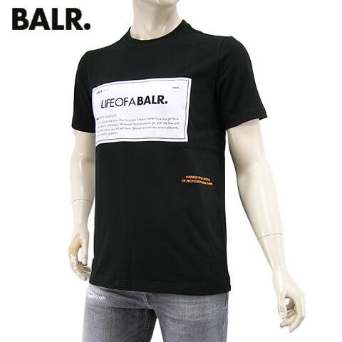 【2020春夏新作】 ボーラー/BALR. メンズ Tシャツ PATCH STRAIGHT T-SHIRT B10090 (ブラック/BLACK) パッチ ストレート Tシャツ/半袖/クルーネック/大きいサイズ-t