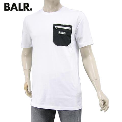 【2020春夏新作】 ボーラー/BALR. メンズ Tシャツ CARGO STRAIGHT T-SHIRT B10145 (ホワイト/WHITE) カーゴ ストレート Tシャツ/半袖/クルーネック/大きいサイズ-t