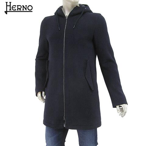 ヘルノ/HERNO メンズ コート PC0101U 33187 (ネイビー/9290) アウター/ウールコート/フード付き/大きいサイズ-t/SL【プレミアムSTOCK-19AW】