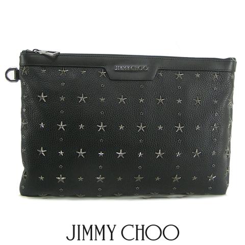 ジミーチュウ/JIMMY CHOO メンズ クラッチバッグ DEREK GRY (BLACK BLACK/ブラック) デリック