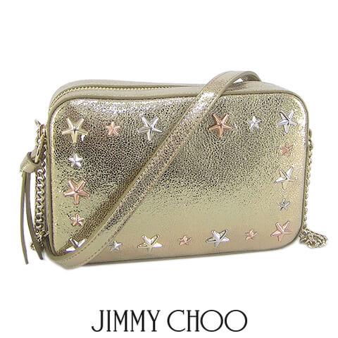 ジミーチュウ/JIMMY CHOO レディースショルダーバッグ JOSIE GTQ (ゴールド/GOLD) ハンドバッグ/スタースタッズ/小物/プレゼント/誕生日/パーティー/バレンタイン/クリスマス/SL