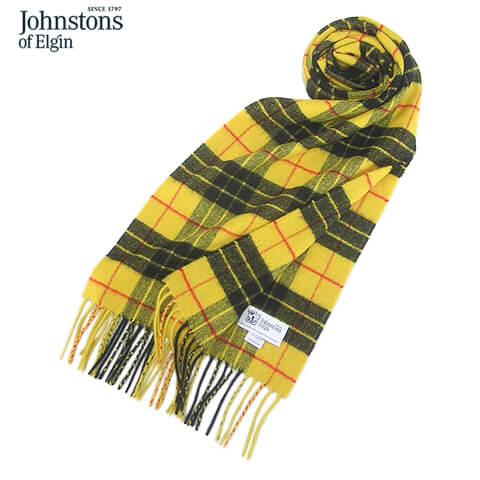 ジョンストンズ Johnstons メンズ カシミア100% マフラー スコットランド直輸入価格 送料無料 WA000016 数量限定 KU0097 MACLEOD OF SL WA56 ユニセックス カシミヤ チェック柄 小物 WA000056 即日出荷 WA57 WA16 LEWIS WA000057