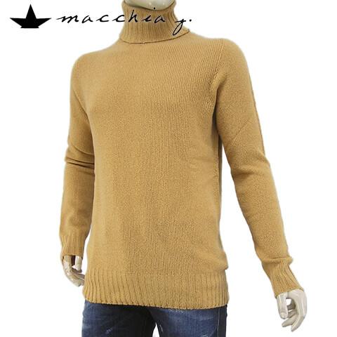 マッキアジェー/MACCHIA J メンズ ニット MM1508 T WTIC (キャメル/08) タートルネック/長袖/大きいサイズ-t/SL【プレミアムSTOCK-19AW】