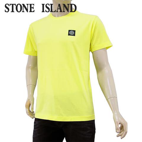 【2020春夏新作】 ストーンアイランド/STONE ISLAND メンズ Tシャツ 721524113 (レモン/V0031) クルーネック/半袖/大きいサイズ-t