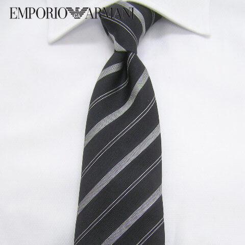 エンポリオアルマーニ/EMPORIO ARMANI メンズ ネクタイ 340182 8P315 (ブラック系/レジメンタルストライプ:00020) 結婚式/プレゼント/誕生日/就職/パーティー/バレンタイン/父の日/クリスマス/成人式 セール品