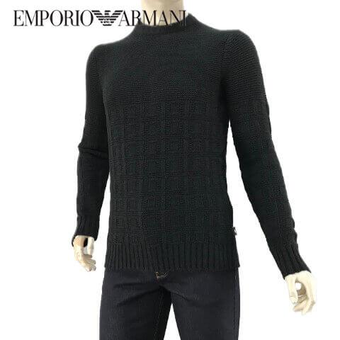 エンポリオアルマーニ/EMPORIO ARMANI メンズ ニット 6Z1MXA 1MQWZ (ブラック/0999) クルーネック/大きいサイズ-t/セール品 【プレミアムSTOCK-AW】