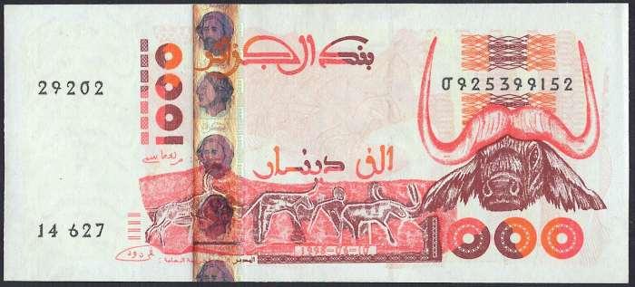 アルジェリア 1000 dinars 1998年