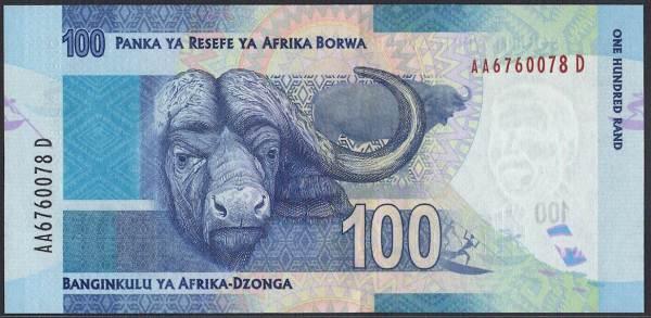 南アフリカ共和国 100 rand ネルソン・マンデラ大統領/ケープバッファロー 2012-2015年