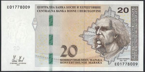 ボスニア・ヘルチェゴビア 20 convertibilna marka 吟遊詩人フィリップ・ヴィシュニック 2012年