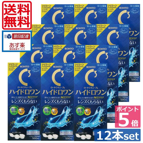 【送料無料】ロートCキューブ ハイドロワン(500ml)×12、ケース付 (あす楽)
