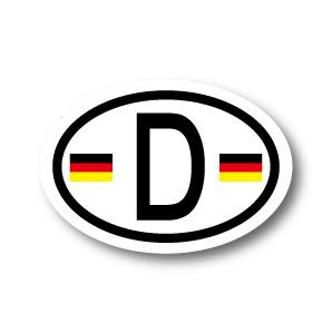 ☆世界各国国旗ステッカー販売中☆ ドイツ国旗 D ビークルID 国識別 ステッカー 賜物 楕円タイプ Lサイズ C-2 縦10.5cm×横15cm 格安店 シール 屋外耐候耐水