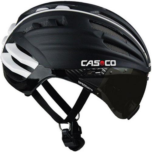 送料無料 購入 カスコ SPEEDairo 正規認証品 新規格 バイザー付き ヘルメット ブラック ホワイト