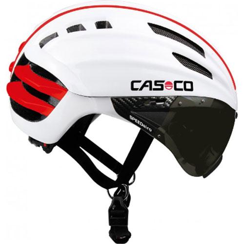 送料無料 お買得 カスコ SPEEDairo ヘルメット 祝開店大放出セール開催中 ホワイト バイザー付き