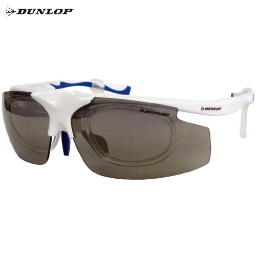 ダンロップ DU-019 蛍光ホワイト (はね上げタイプ) 無料度付レンズ付きサングラス