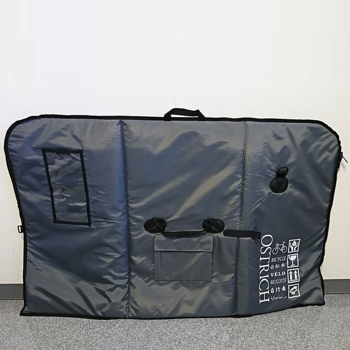 【輪行マニュアルプレゼント】オーストリッチ OS-500 トラベルバッグ グレー