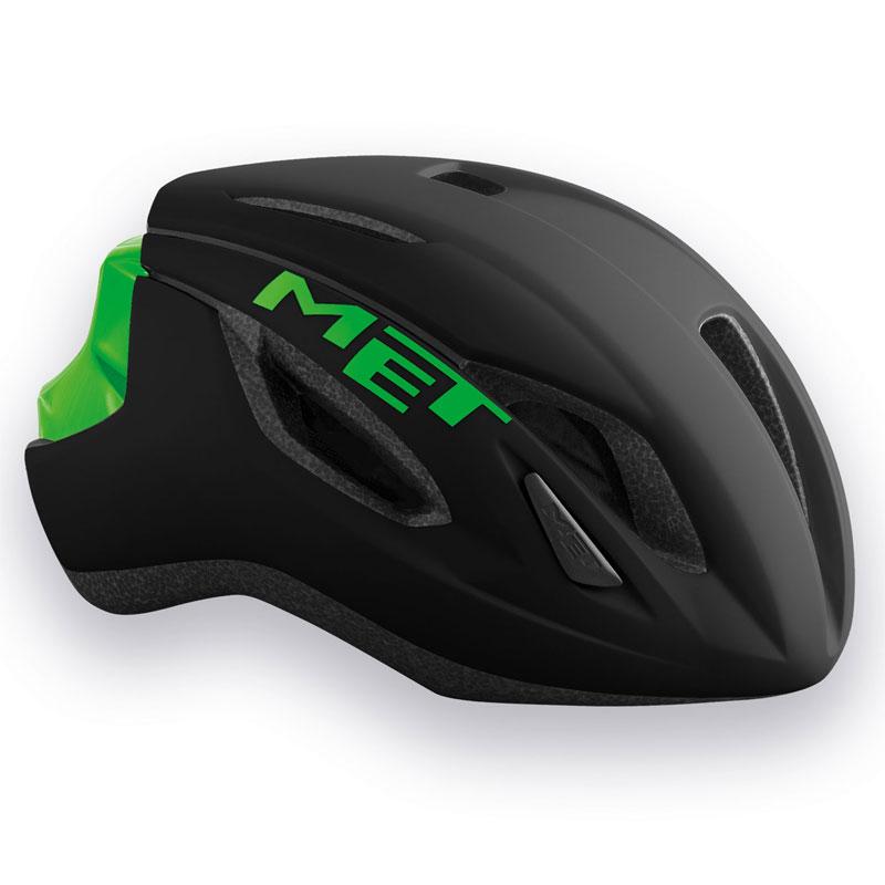 メット ストラーレ ブラック×グリーン ヘルメット