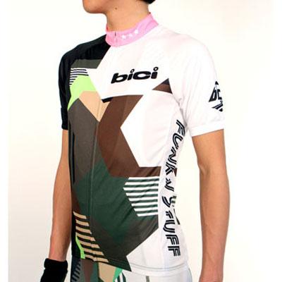 bici Short sleeve Jersey カモフラージュ グリーン