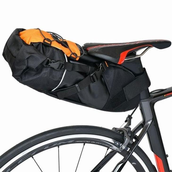 オーストリッチ スマートイージーパック (インナーバッグ付) ブラック/オレンジ サドルバッグ