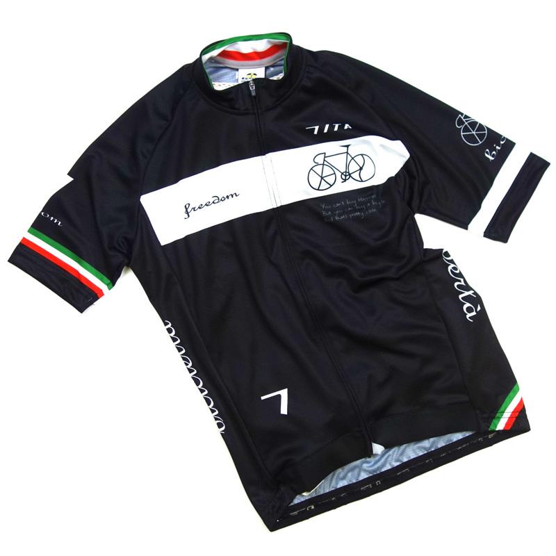 セブンイタリア Neo Freedom Bicycle Jersey ブラック