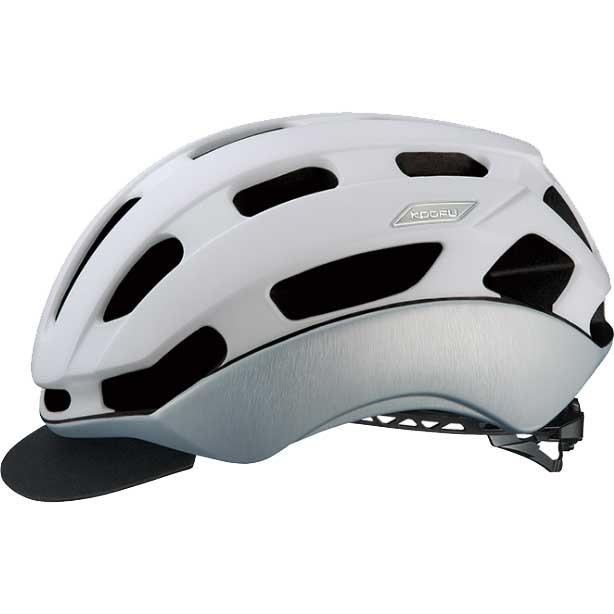 OGKカブト KOOFU(コーフー) BC-GLOSBE-2 マットホワイトヘアライン ヘルメット