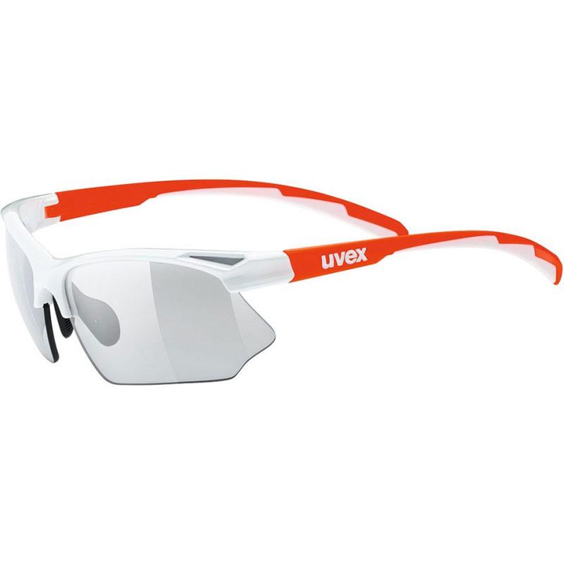 ウベックス スポーツスタイル 802 v ホワイトオレンジ サングラス(調光レンズ)