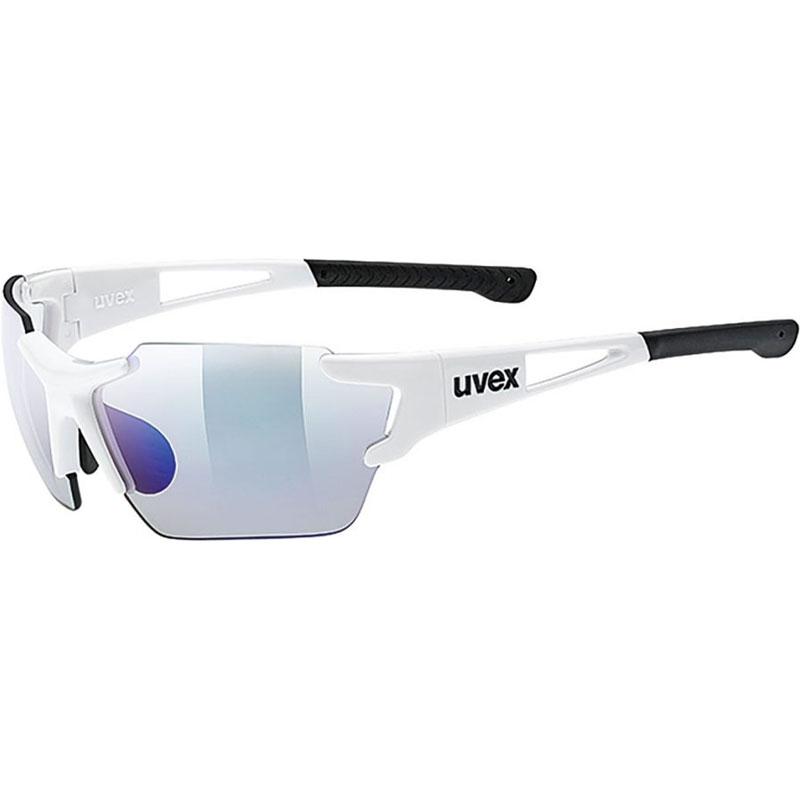 ウベックス スポーツスタイル 803 race vm small ホワイト サングラス(調光レンズ)