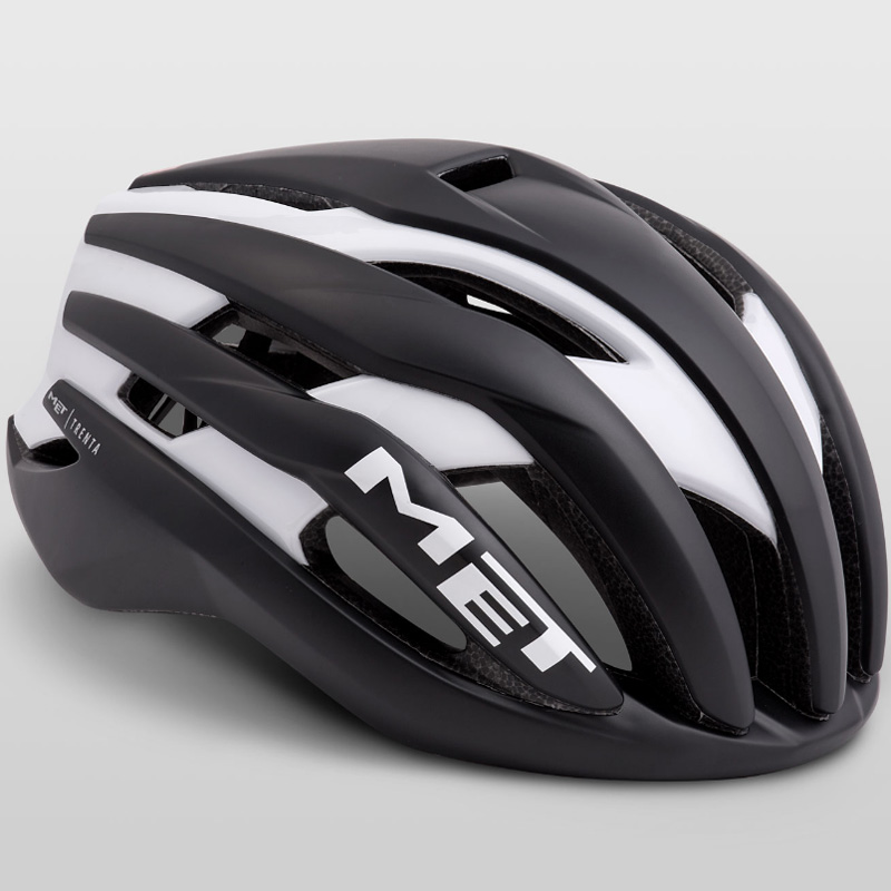 メット トレンタ ブラックホワイト ヘルメット
