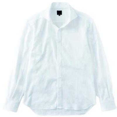 レリック シャドー織カモ柄シャツ ホワイト